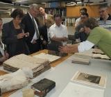 Návštěva zástupců asociace Evropských teologických knihoven v restaurátorské dílně papíru