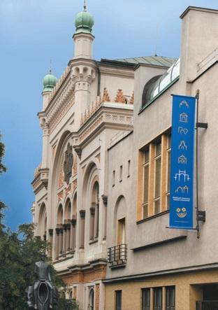 Nový poutač u Španělské synagogy