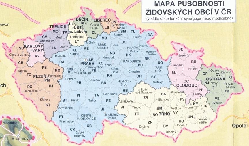 mapa působnosti ŽO